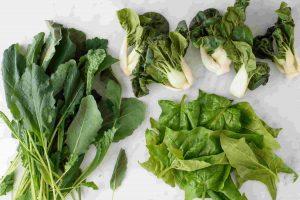 برگ های سبز خوراکی